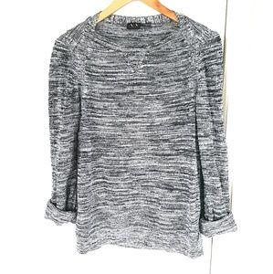 AX Armani Exchange Womens Knit Sweater Medium Gray